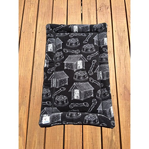 Black Dog Crate Bed Big Puppy Bedding Kennel Pad Fits 24x36 Crate Washable by Comfy Pet Pads