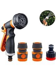 Tasquite Pistola de Agua de Jardín, 8 Modos Ajustables Manguera de Jardín Boquilla de Pulverización