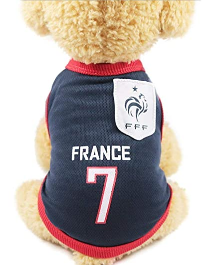 68bbfe53962 Siray World Cup FIFA France National Soccer Team Pet Jersey Dogs Costume  Football T-Shirt