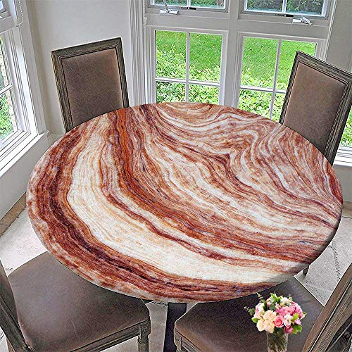PINAFORE HOME Round Tablecloth Marble Stone Background Granite Elegance Effect Slab Vintage Background for Kitchen 63