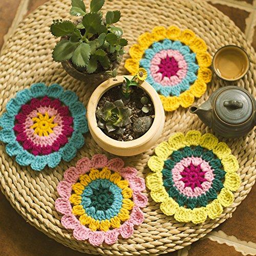 Crochet Coasters Christmas Halloween -