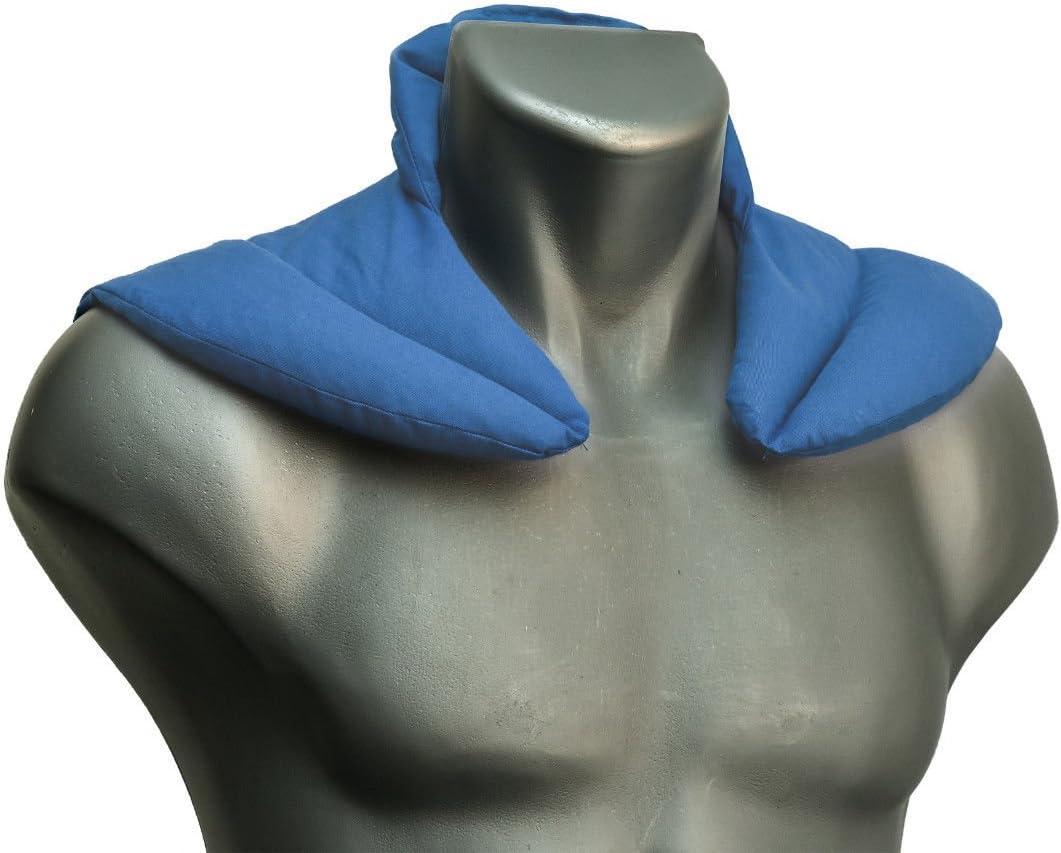 Coussin de nuque avec col montant l Bleu clair l Coussin aux graines de groseilles l Coussin /épaules et cou
