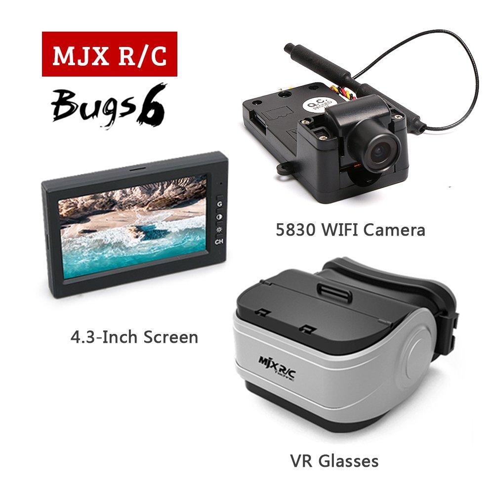 MJX RC Bugs 6 & B078B71XDR B6 RC ドローン & with 5.8G C5830 FPV カメラ2.4 inch ディスプレイVR Glasses [並行輸入品] B078B71XDR, あしや堀萬昭堂:244ef01e --- ijpba.info