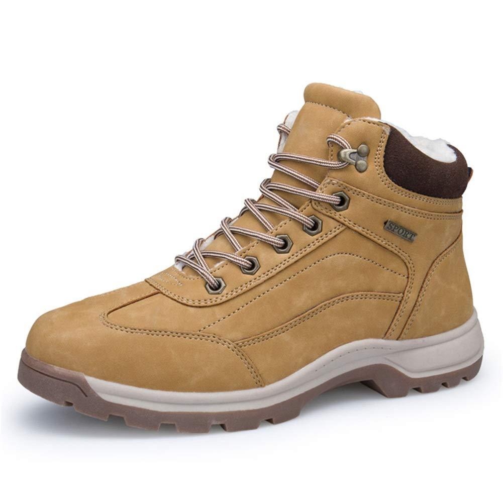 JLT Herrenstiefel, Leder Herbst Winter High-Top-Stiefel und Samt Warm halten Werkzeugstiefel Laufstiefel Größe Outdoor-Outdoorstiefel Wandern