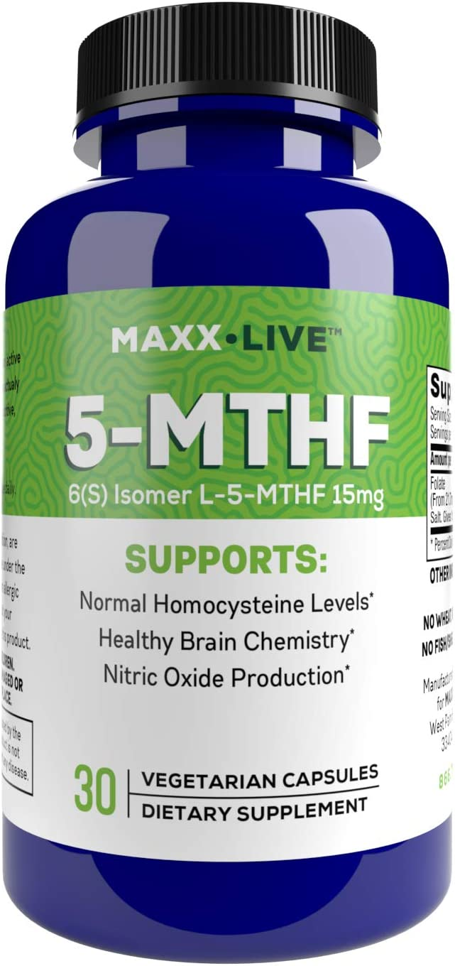 MAXX LIVE L-Methylfolate 15 mg - Dedication S Active Support Folate 2021 new Mthfr 5