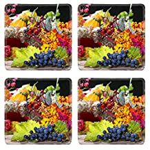 Luxlady Natural Rubber Square Coasters IMAGE ID: 23251212 Autumnal still life
