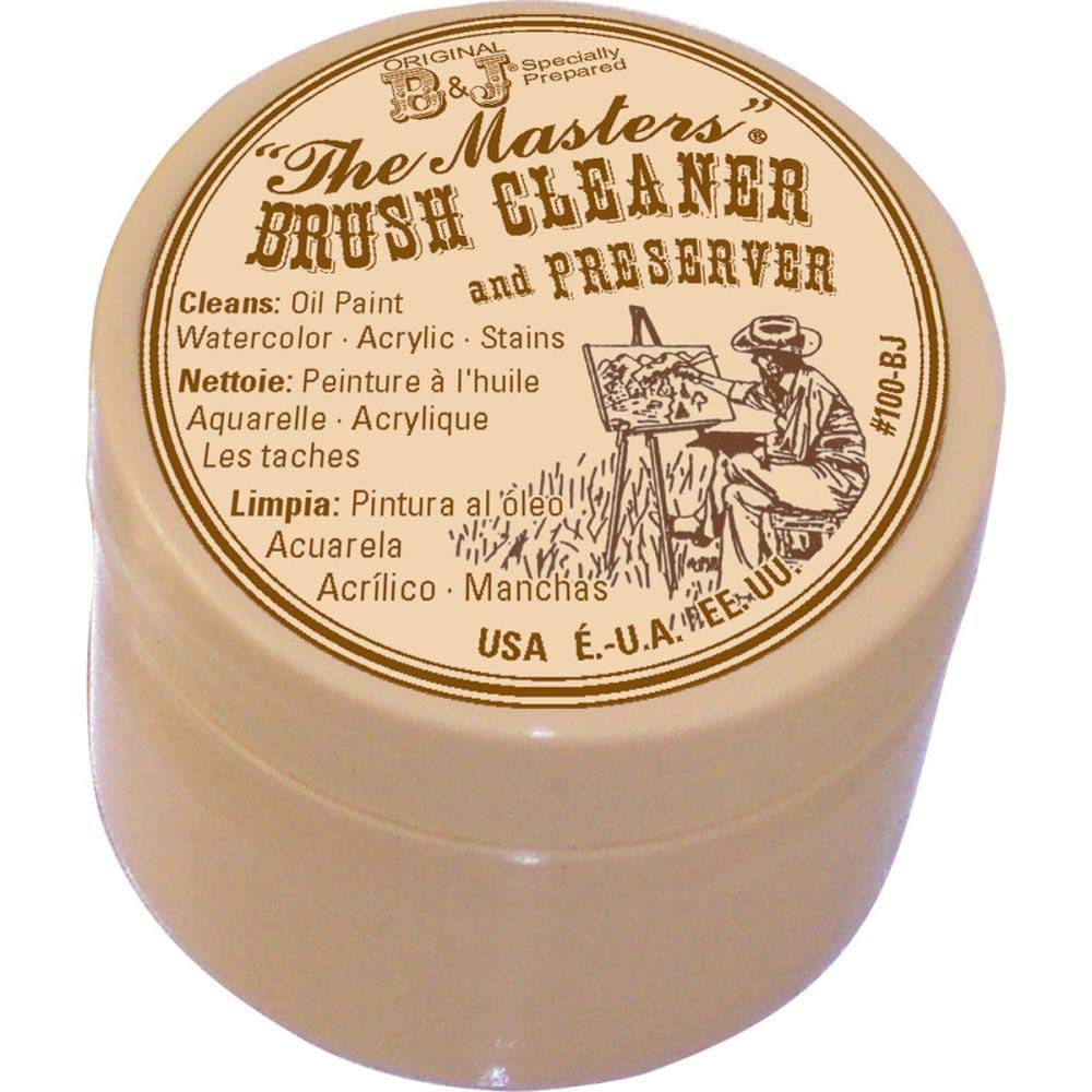 General Pencil The Master's Brush Cleaner & Preserver 1 Oz. with 10 Well Palette W/Lid by General Pencil