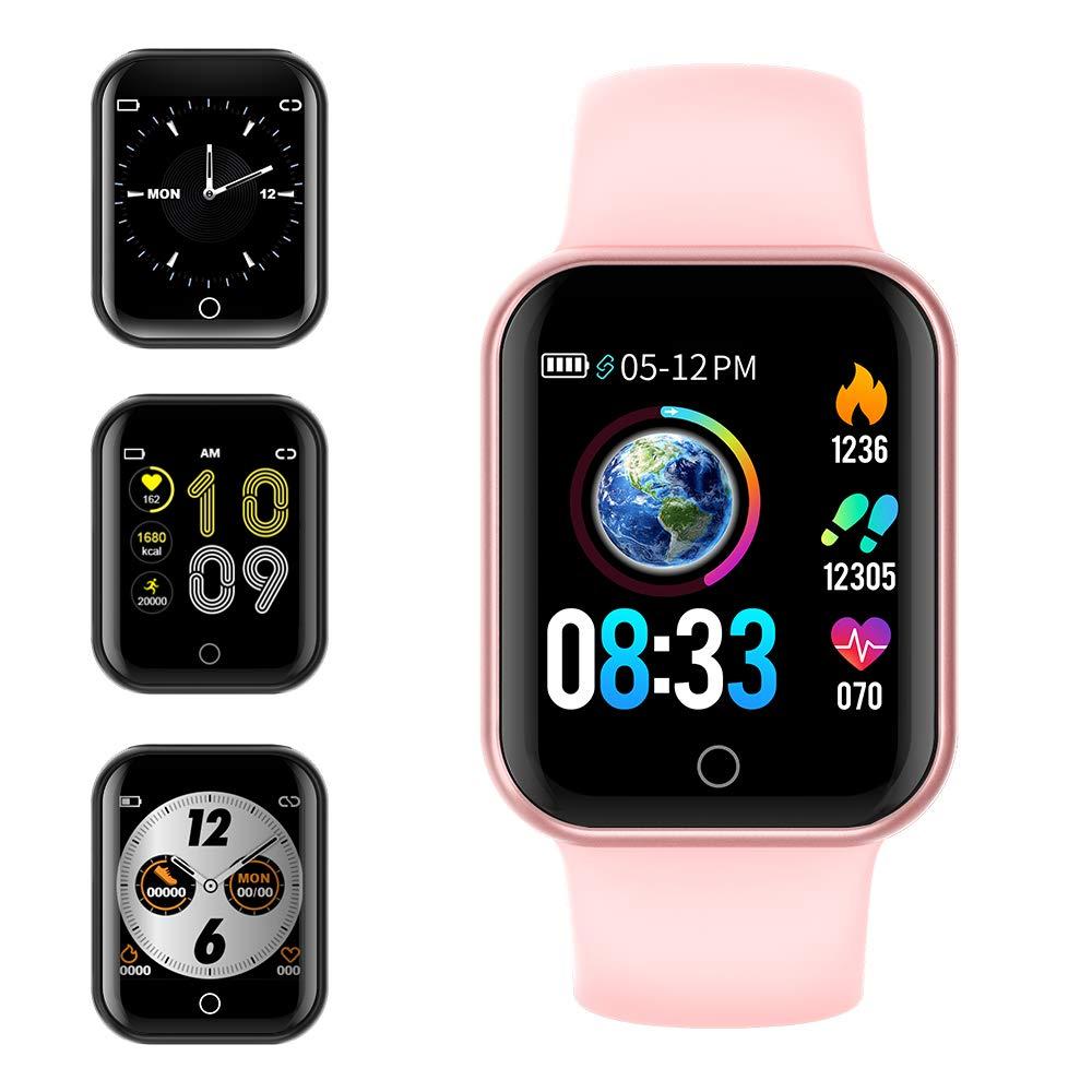 Smartwatch, KUNGIX Reloj Inteligente Impermeable IP68 Pulsera de Actividad Inteligente con Monitor de Sueño Pulsómetros Podómetro Contador de Caloría, para Hombre Mujer niños (Rosa) product image