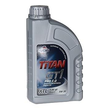 FUCHS TITAN GT1 Pro C-3 5W30 - Aceite de motor (1 litro): Amazon.es: Coche y moto