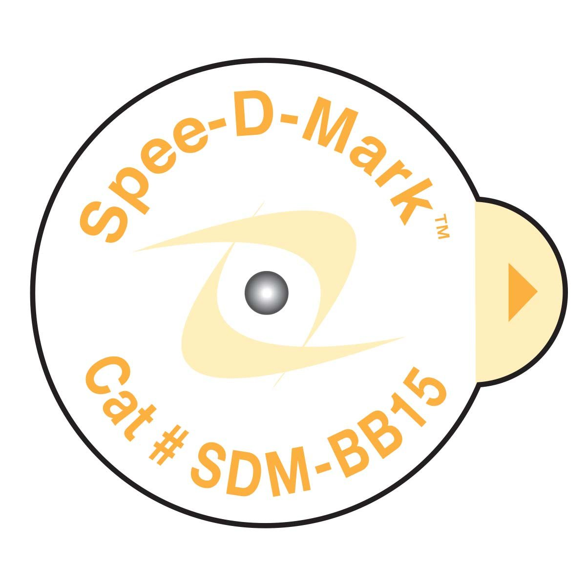Spee-D-Mark SDM-BB15 Mammography Skin Marker Nipple Radiopaque, 1.5 mm Size (Box of 100)