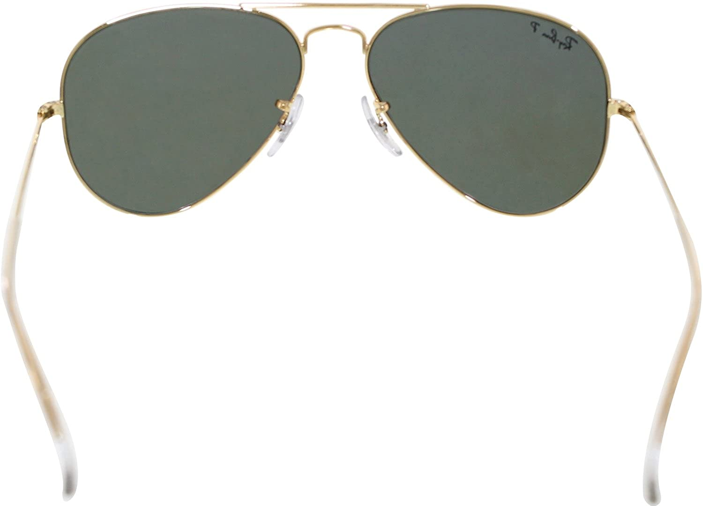 fbd8f76ef3c Verde Di Ray-Ban Classico Aviator Sunglasses Arista Oro Cristallo  Polarizzato Rb3025 001 58 55  Amazon.it  Abbigliamento