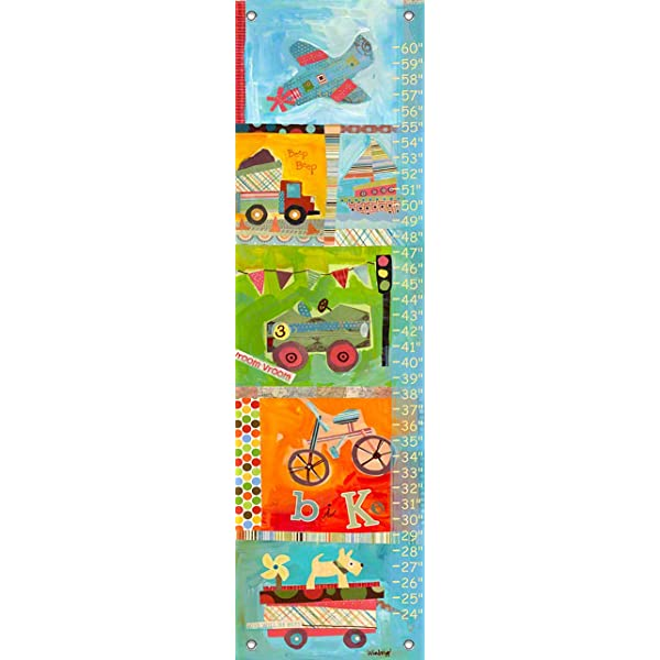 Canvas GROWTH CHART Woodland Friends Forest Animals Kids Bedroom Baby Nursery Wall Art Personalized Kids Growth Chart Height Chart GC0109