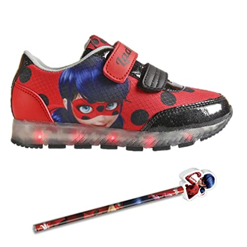 Scarpe Con Chiusura A Sneakers Miraculous Ladybug Strappo Sportive wPkOn80