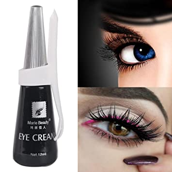 ea94cc104ae Amazon.com : Exteren Beauty 12ml Black False Eyelash Glue Fake Eyelash  Adhesive Eye Cream Fake Eyelashes (Black) : Beauty