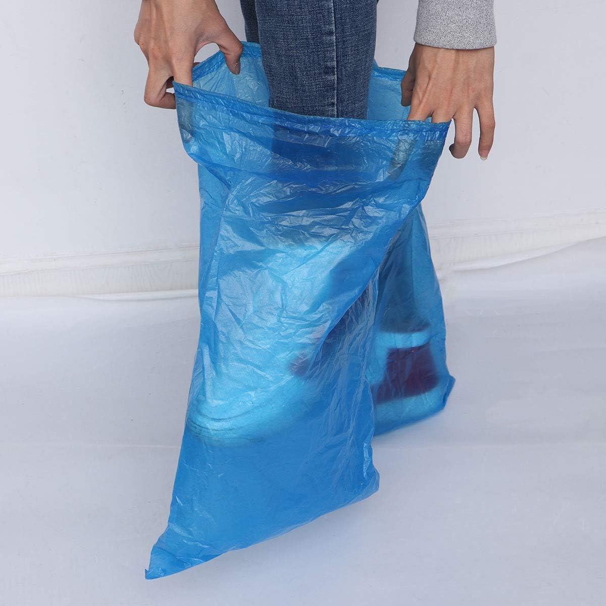 Artibetter 5 Paar Einweg-Schuhabdeckung Regenschuhe und Stiefelabdeckung Kunststoff lange Schuhabdeckung wasserdichte Anti-Rutsch-/Überschuhe f/ür Frauen M/änner regnerischen Tag verwenden Abdeckung