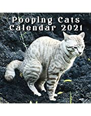Pooping Cats Calendar 2021: Funny Cat Wall Calendar Joke Gift | Stocking Fillers for Men | Secret Santa | White Elephant | With American Holidays