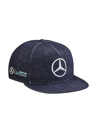23ddf45a107 Image Unavailable. Image not available for. Color  Mercedes Benz Lewis  Hamilton Great Britain Special Edition Cap Denim