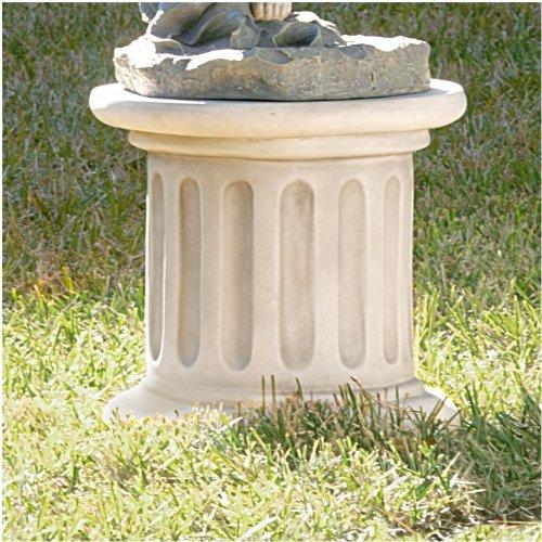 16'' Classic Sculptural Column Stone Finish Plinth Design Home Garden Base