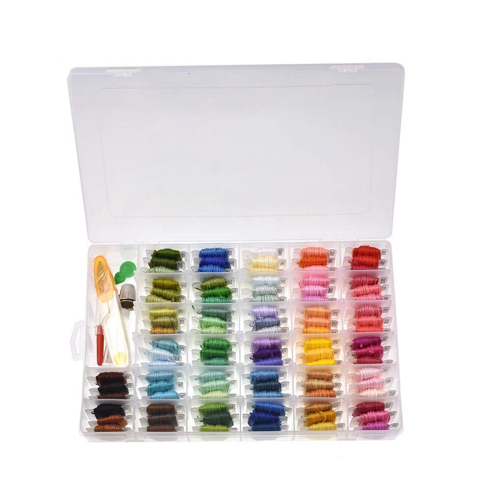 139 Pcs insgesamt GoodFaith Stickerei Set Handwerk Erschwingliche Stickgarn String Kits 100 Str/änge Floss Cross Stitch Kit f/ür Freizeit