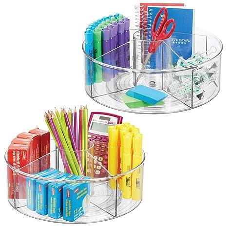 Amazon.com: mDesign - Tocadiscos de plástico dividido para ...