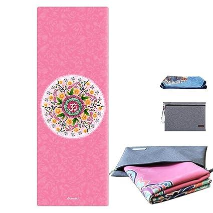 Amazon.com : JOANNAS HOME Thin Yoga Mat 1/17 Inch Foldable ...