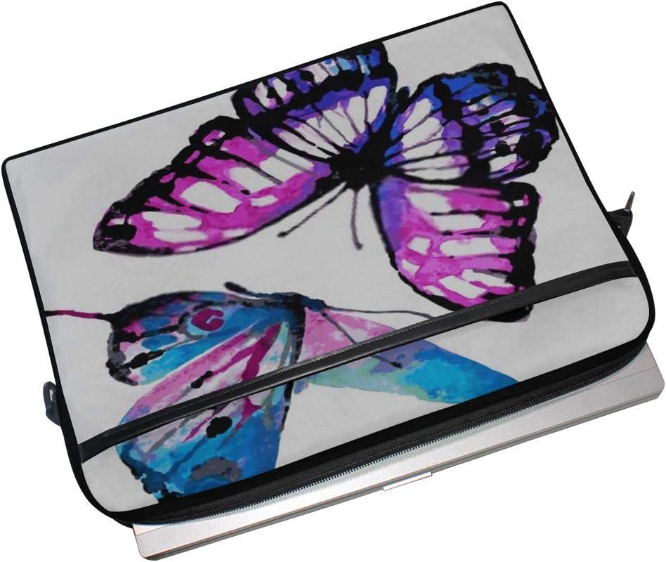 Laptop Bag Butterflies Design 15-15.4 Inch Laptop Case College Students Business People Office Wor Briefcase Messenger Shoulder Bag for Men Women