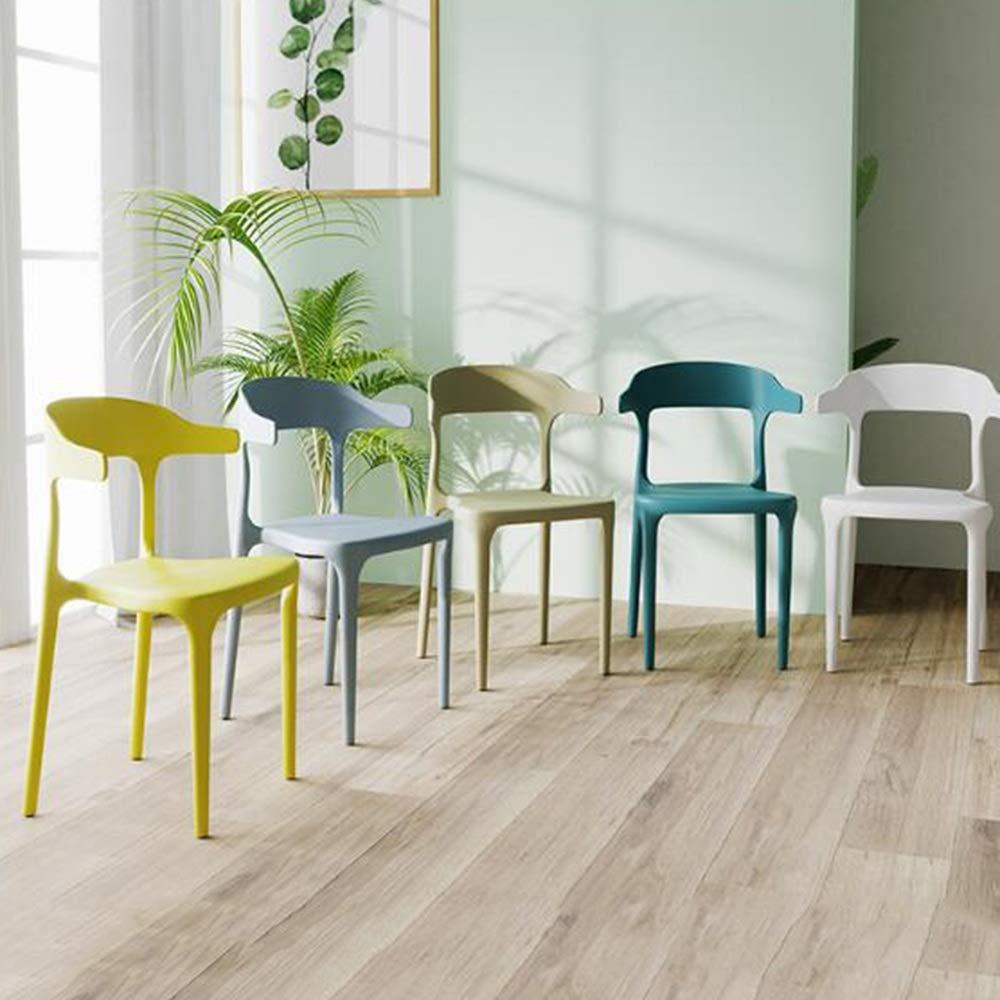 NAN liang Plaststol, matstol för ryggstöd modern minimalistisk pall, nordisk fritid mottagningsstolar, 9 färger (färg: Grön) Svart