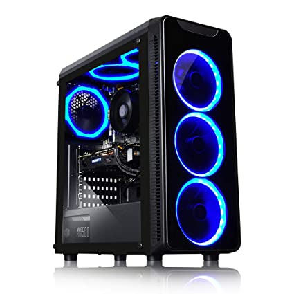 ADMI Blaze Gaming PC (Ryzen 2600 3 9Ghz, RX 570 8GB, 8GB 2400MHz, 240GB  SSD, WIFI, Blaze Case, Windows 10) with The Division 2, Resident Evil 5 and