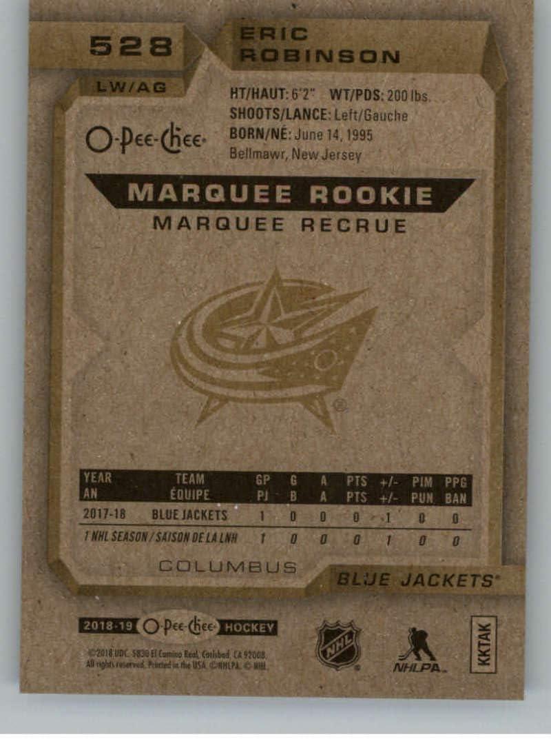 2018-19 O-Pee-Chee #528 Eric Robinson RC Rookie Card SP Short ...