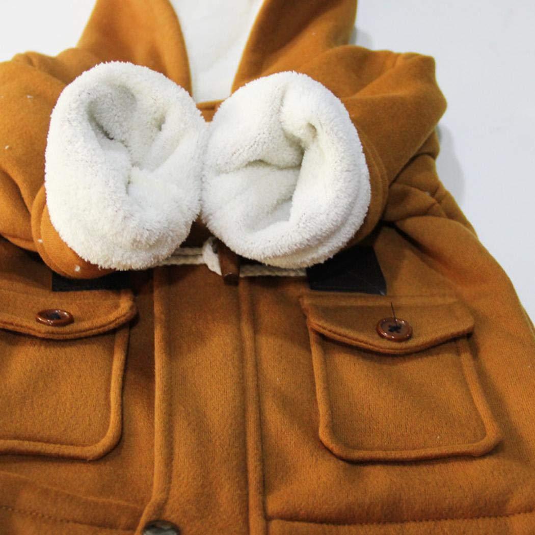 mymotto Giacca Cappotto Caldo Ragazzo Bambino Corno Fibbia Cerniera Addensare Giacca con Cappuccio Abbigliamento Manica Lunga Caldo 1-5Anni