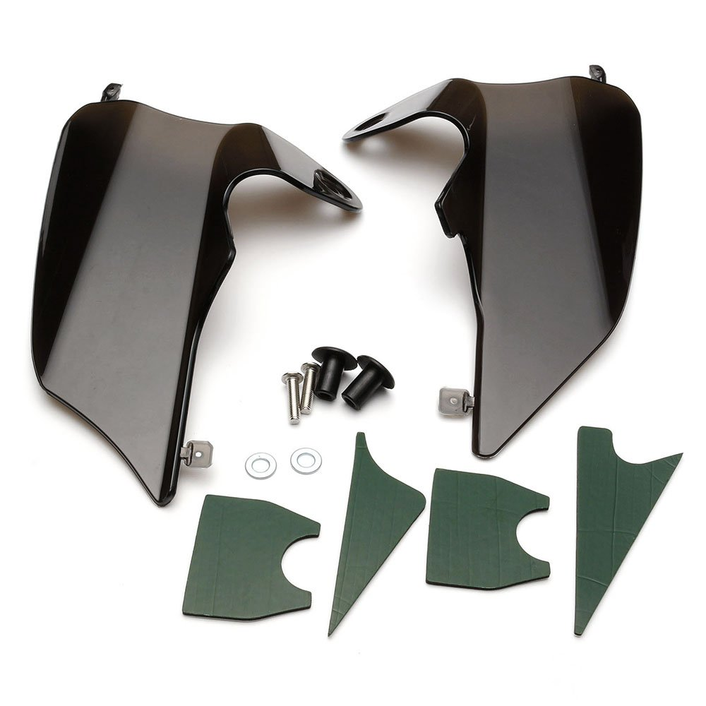 NEVERLAND Reflective Saddle Shield Air Heat Deflector for 1997-2007 Harley Road King Street Electra Glide Grey