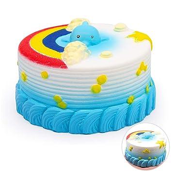 VSTON Oceano Pastel Squishy Lento Levantamiento Kawaii Squishy Juguete Squeeze Squeeze Stress Relief para Niños Colección Squishies Regalo, Azul: Amazon.es: ...