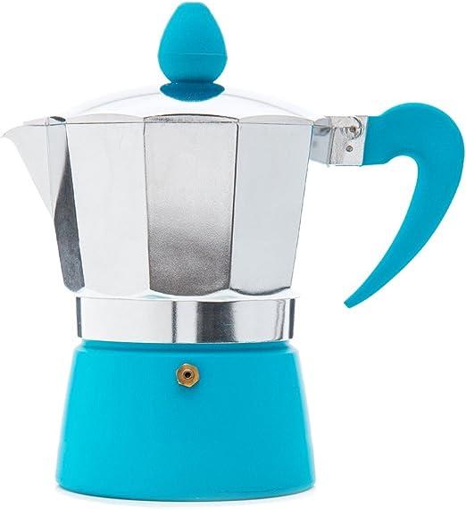 San Ignacio - Cafetera para 1 servicio en color azul.: Amazon.es ...