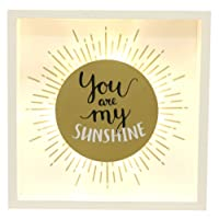 You Are My Sunshine LED Light Wooden Gold Sun Sign Heart Valentines Wedding Gift Romantic Room Decoration