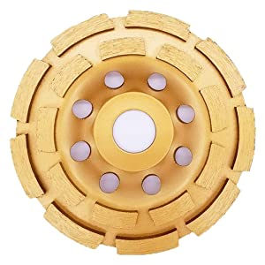 Aplus Diamond Cup Grinding Wheel, Double Row Diamond Grinder Disc for Concrete, Granite, Stone, Marble etc (4-1/2 Inch (115 mm))