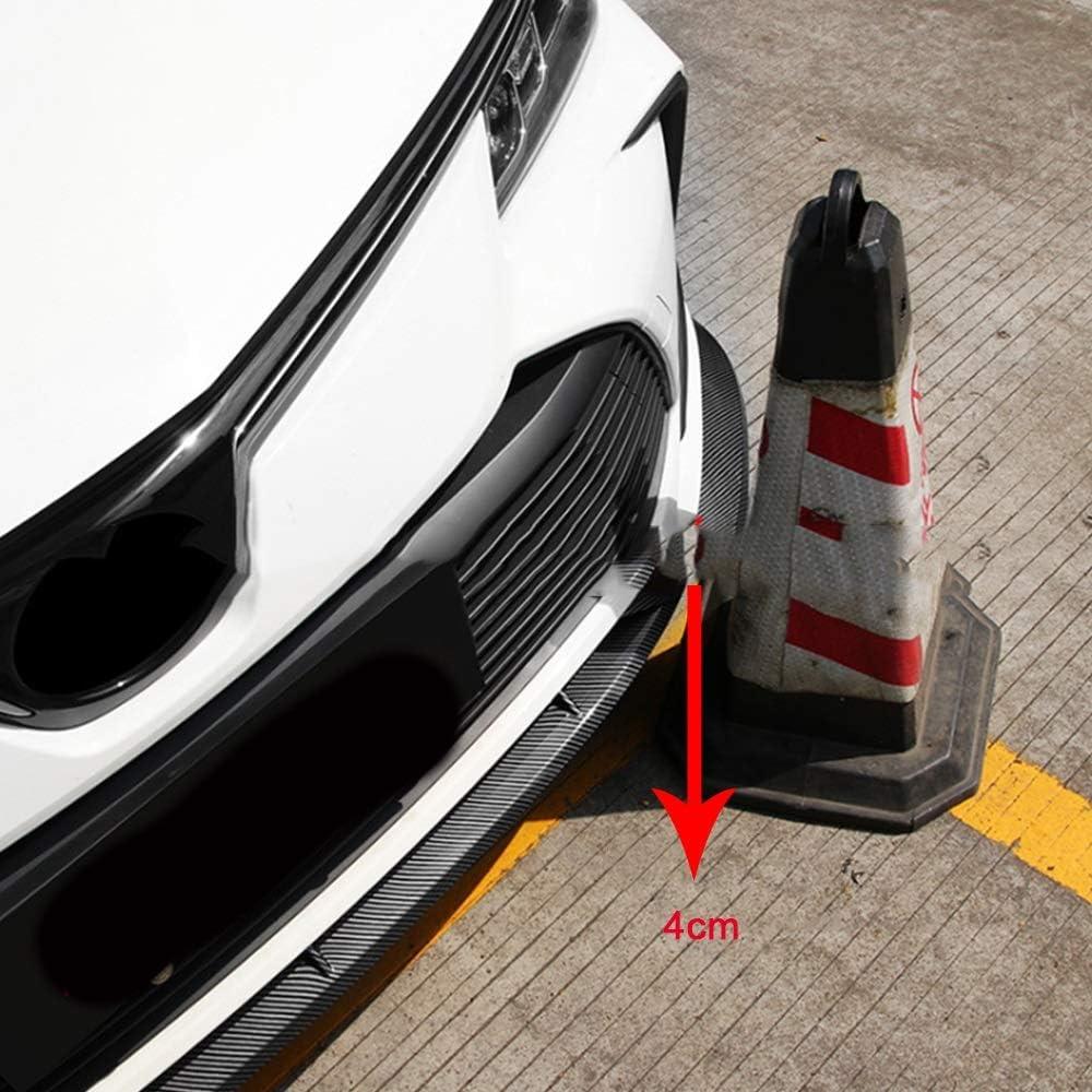 pare-chocs de protection de garniture de l/èvre avant automobile d/écoration de garde ACEOLT Spoiler de l/èvre de pare-chocs avant de style de fibre de carbone ABS pour Toyota Corolla 2019-2020