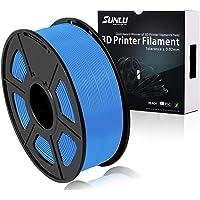 SUNLU 3D Printer Filament PLA Plus Grey Blue, PLA Plus Filament 1.75 mm,Low Odor Dimensional Accuracy +/- 0.02 mm, 3D Printing Filament,2.2 LBS (1KG) Spool for 3D Printers & 3D Pens,Grey Blue