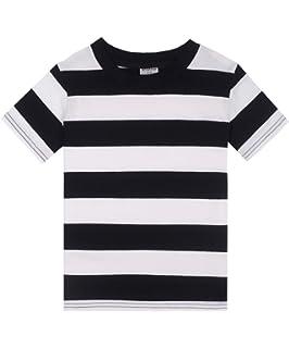 8d6dba914 Amazon.com: ASHERANGEL Unisex Kids Classic Striped T-Shirt Girls ...
