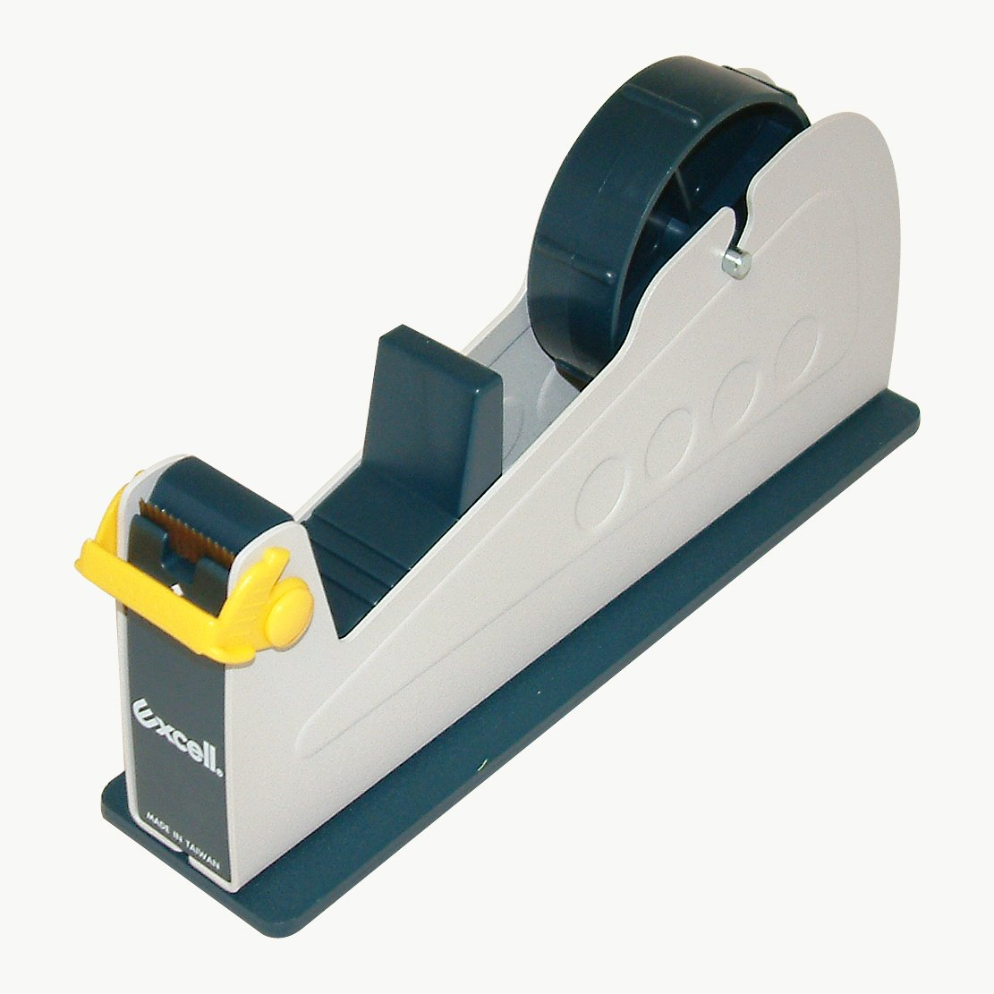 excell EX-17/1IN JVCC EX-17 Steel Desk Top Tape Dispenser: 1'' wide, Blue/Grey