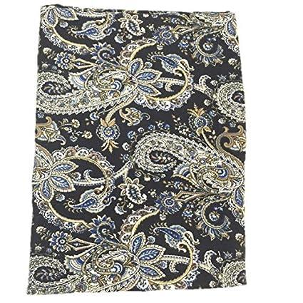 Charmant Raymond Waites Tablecloth Oblong Black Blue Earthtones Paisley 60 By 84