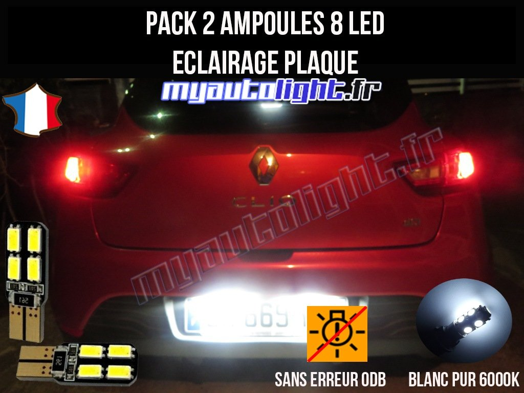 eclairage de plaque pour renault 4 Amazon.fr : Pack ampoules led éclairage plaque pour Renault Clio 4