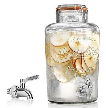 RPI Durable Glass Beverage Drink Dispenser