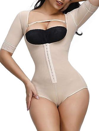 US Women Compression Full Body Shaper Firm Control Tummy Underwear Slim Bodysuit