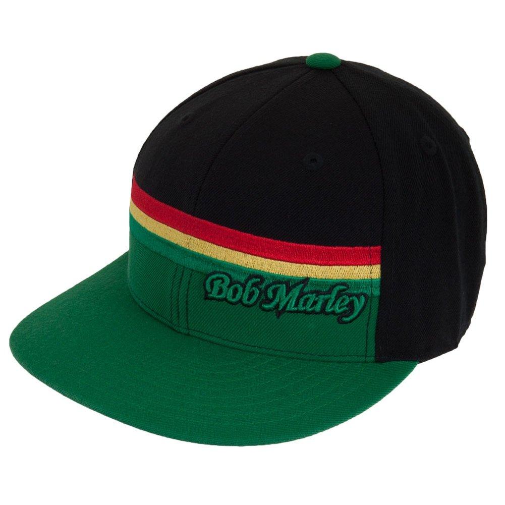 444b6065501 Bob marley green rasta stripe fitted cap clothing jpg 1001x1001 Bob marley  flat bill hats