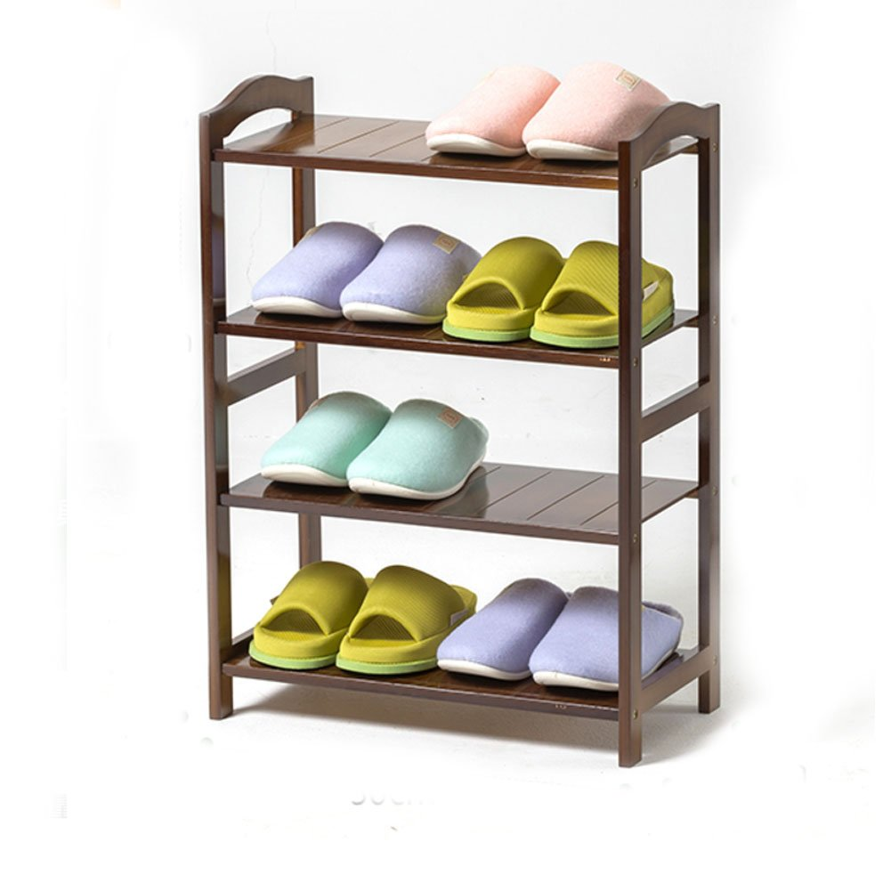 Bamboo shoe rack,100% solid wood ,Function assemble,Entryway shelf Stand shelves Stackable Entryway bedroom 2-5 tier 2-18 shoes -C 68x50x25cm(27x20x10inch)