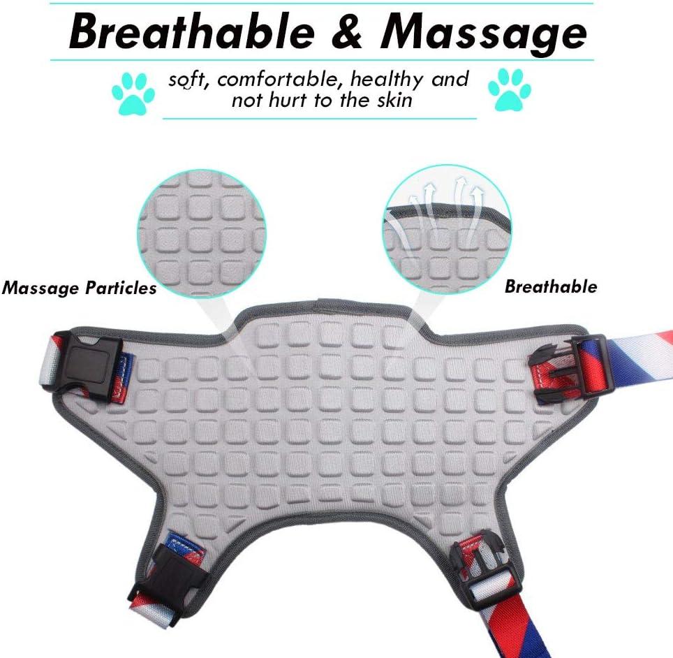 WEETALL Massage Hundegeschirr Britisches Flagge Thema Brustgeschirre f/ür Mittelgro/ße und gro/ße Hunde Einstellbar Atmungsaktiv