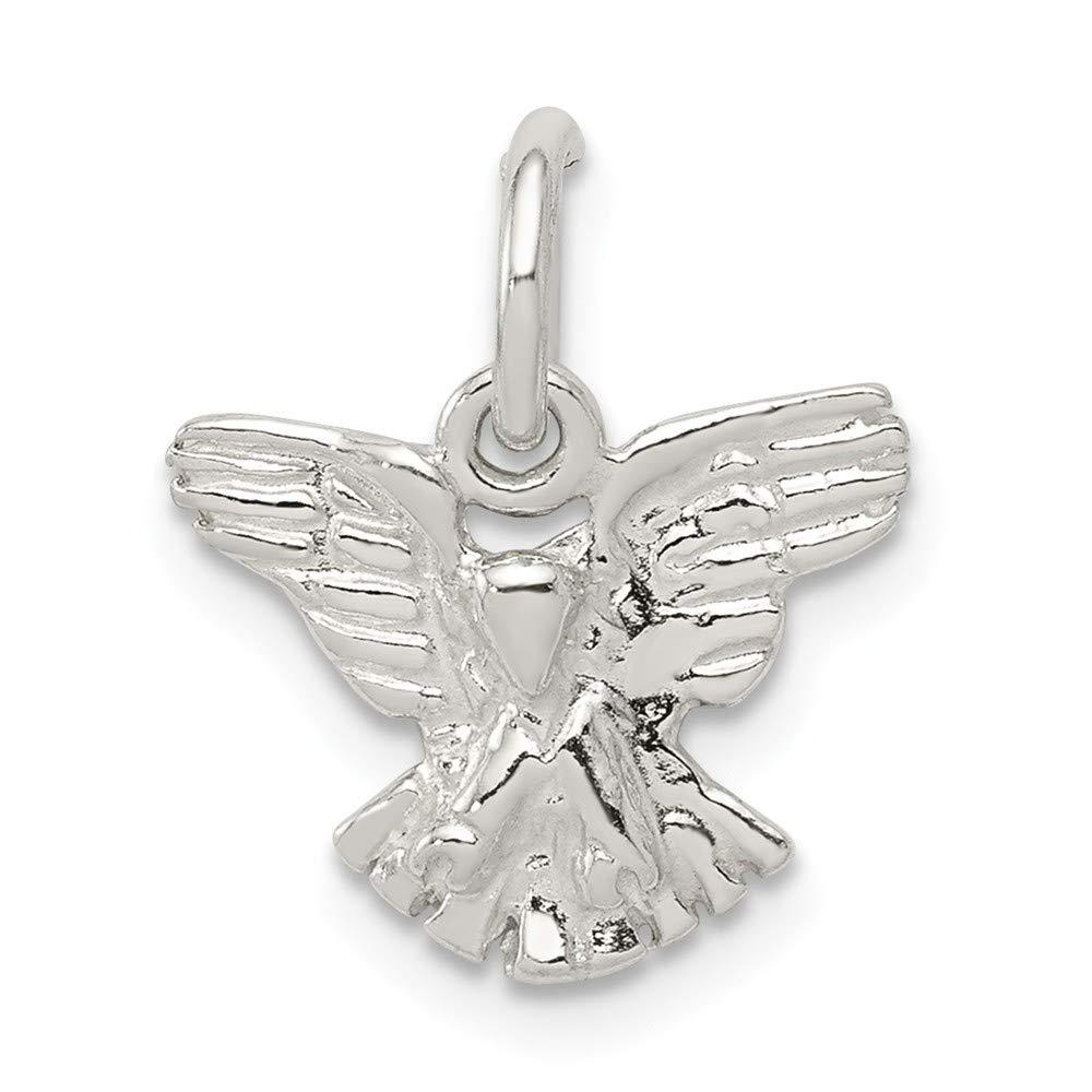 Mia Diamonds 925 Sterling Silver Solid Eagle Charm 12mm x 13mm