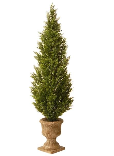 Amazon Com National Tree 60 Inch Arborvitae Plant In Decorative Urn