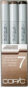 Copic Sketch Marker Set 3 Blending Trio 7