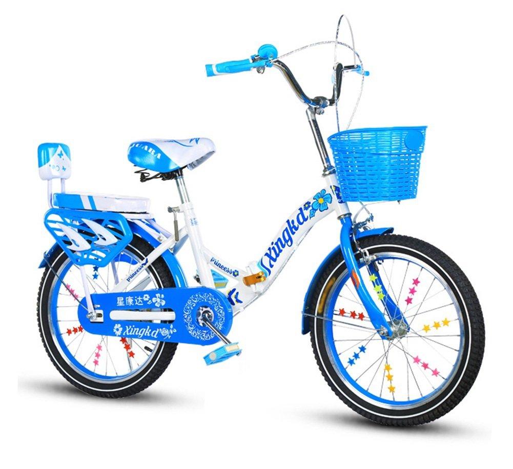 子供の自転車、クリエイティブ自転車プリンセス自転車は、衝撃の安全自転車の折りたたみの女の子の自転車の長さ115-125CMを減らす (色 : A, サイズ さいず : 125CM) B07CWD54D5 125CM|A A 125CM